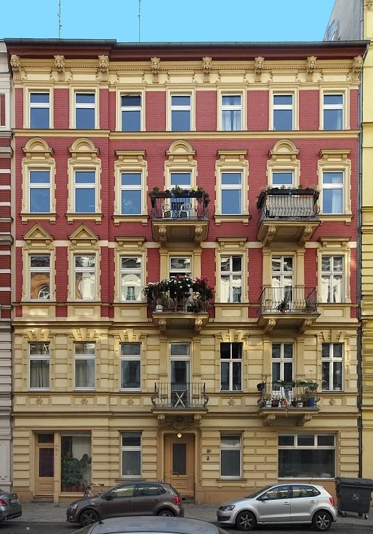 Eine Altbaufassade