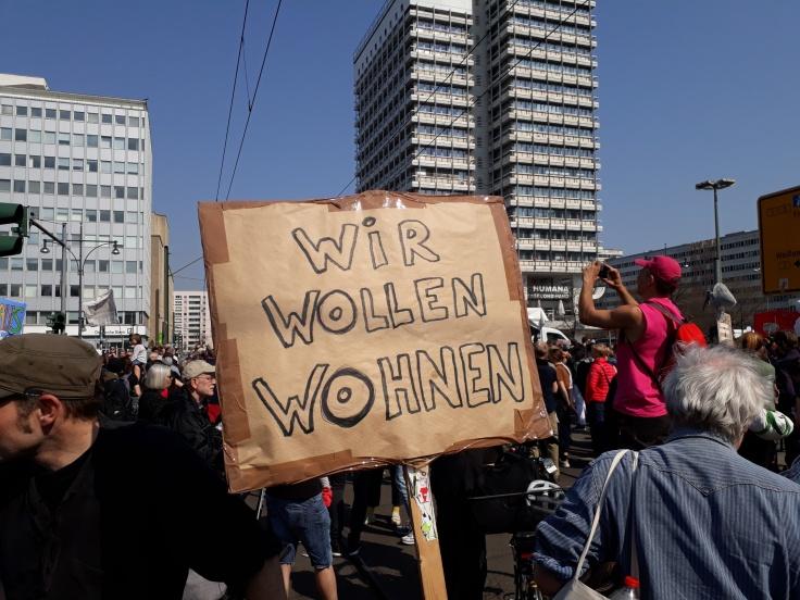 """Plakat """"Wir wollen wohnen"""""""